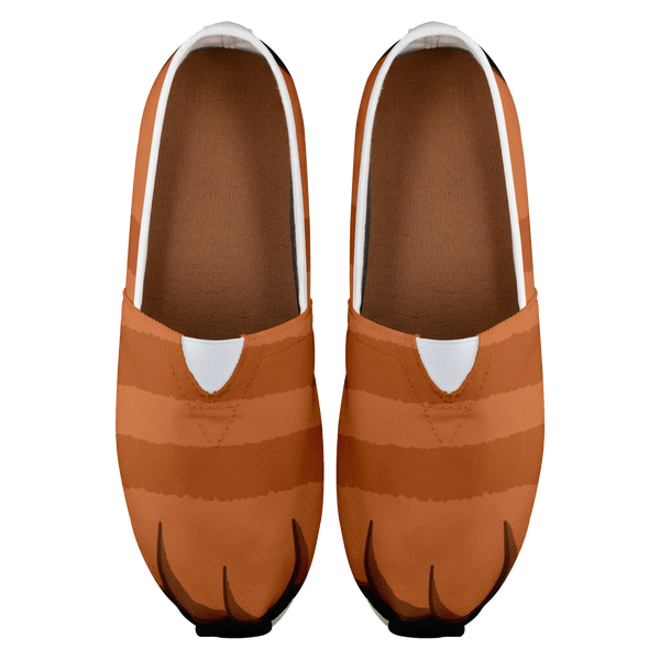 Tabby Orange Cat Paw Shoes