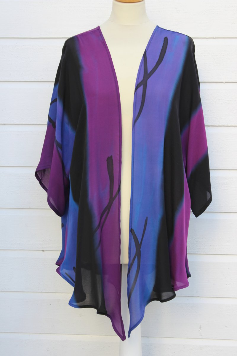 Hand painted silk jacket  Colors 3