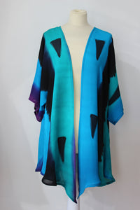 Hand painted silk jacket 0779