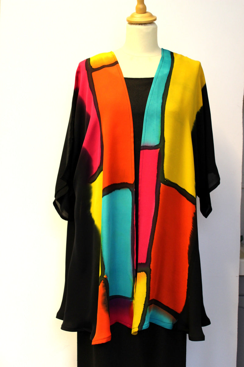 Hand painted silk jacket 1990