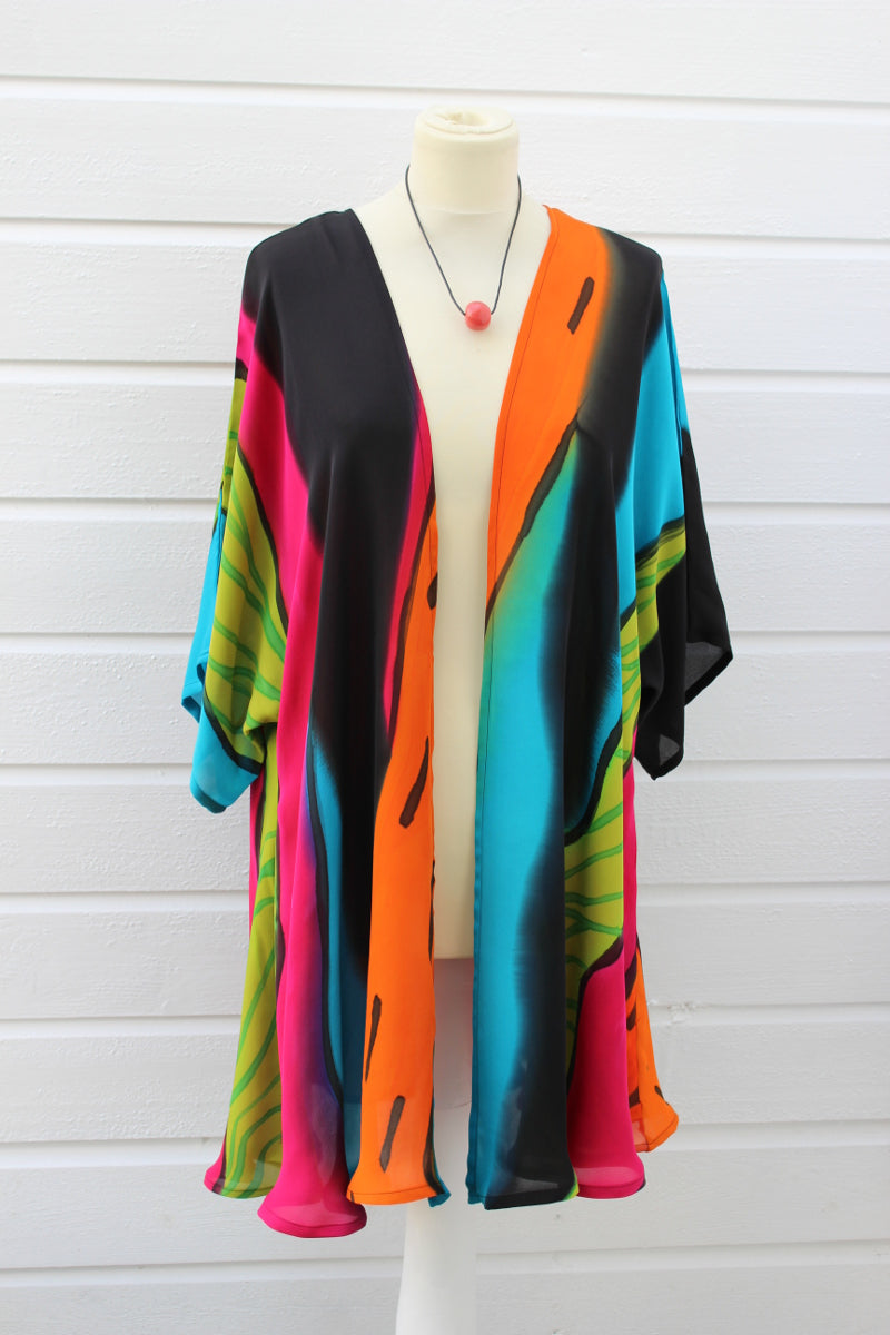 Hand painted silk jacket 2067