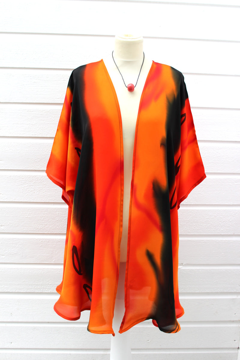 Hand painted silk jacket 2068