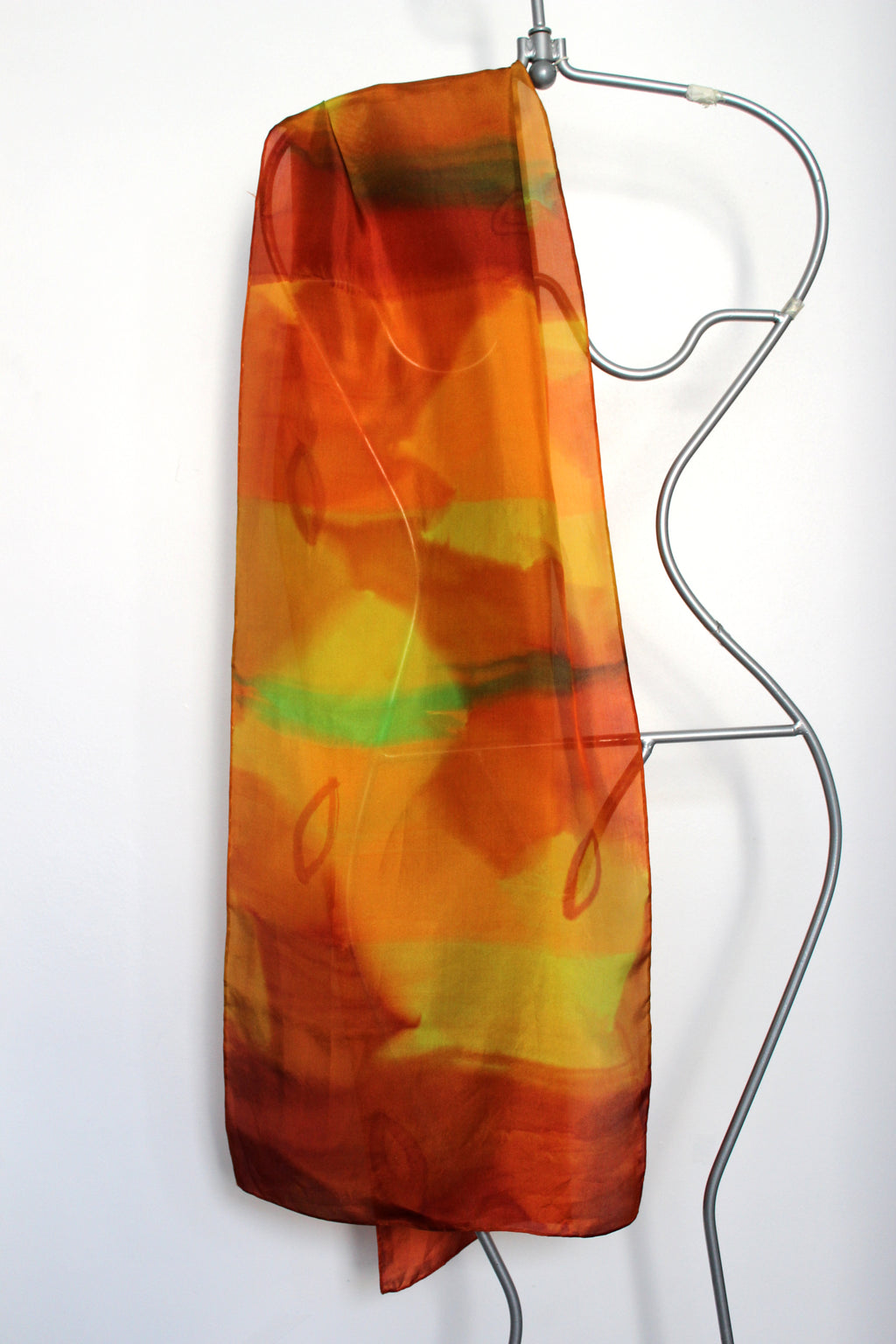Hand painted silk scarf  2322