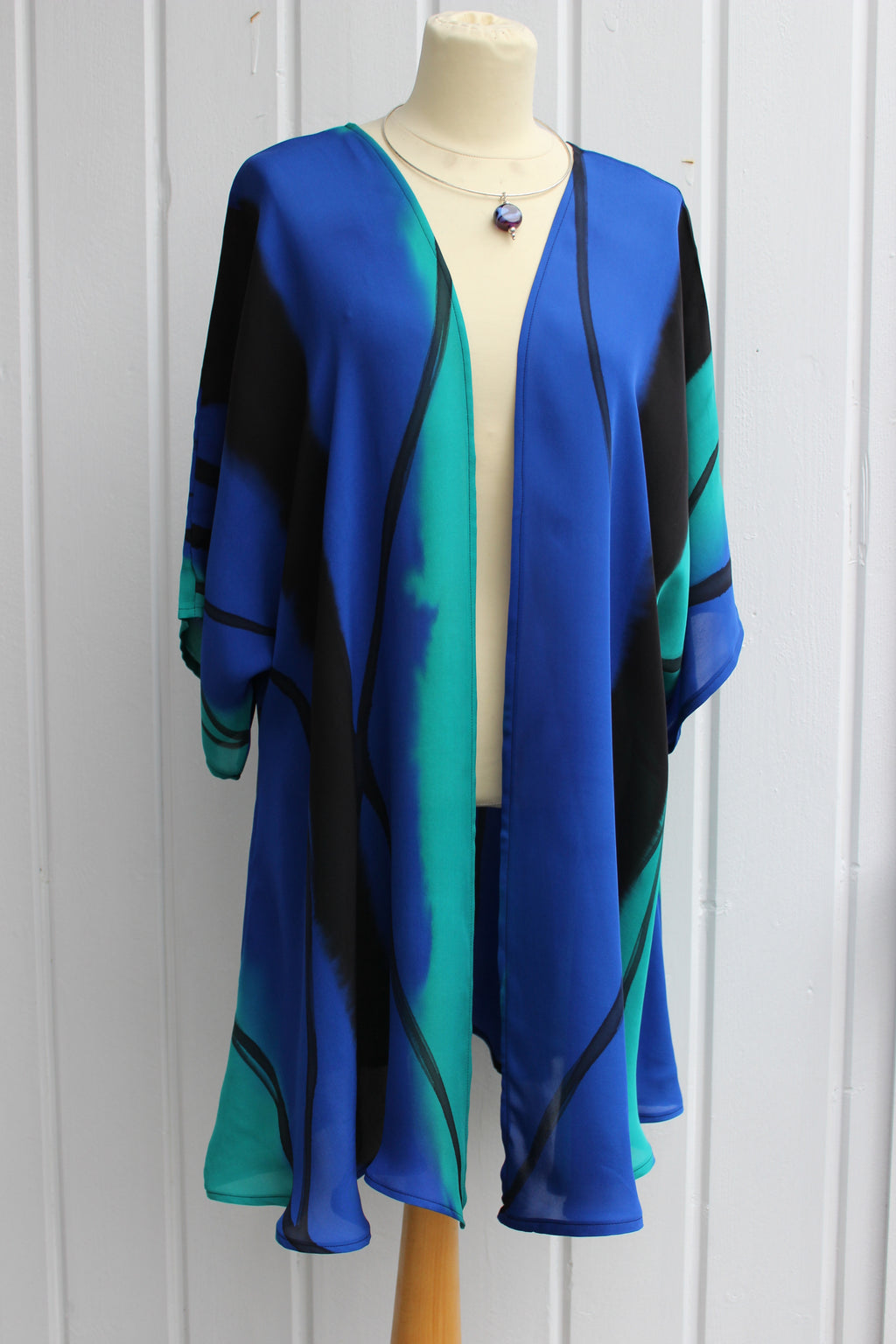 Hand painted silk jacket 2396