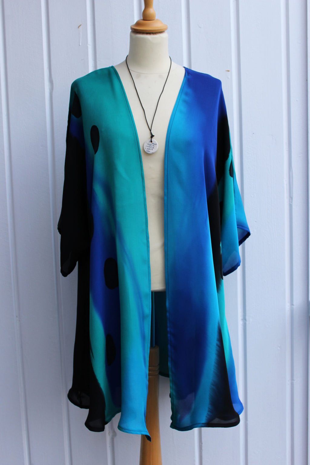 Hand painted silk jacket  2404