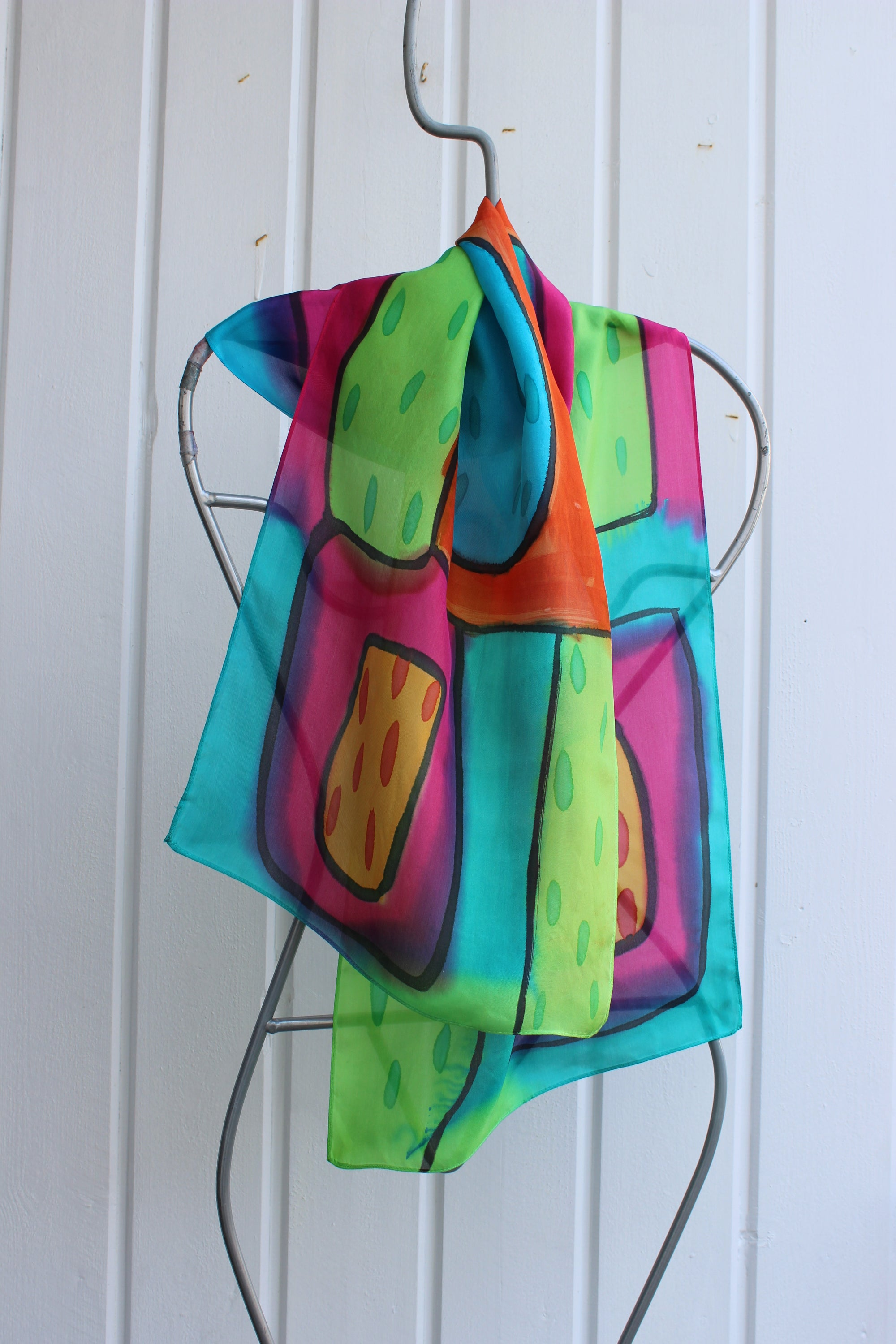 Hand painted silk scarf 2533