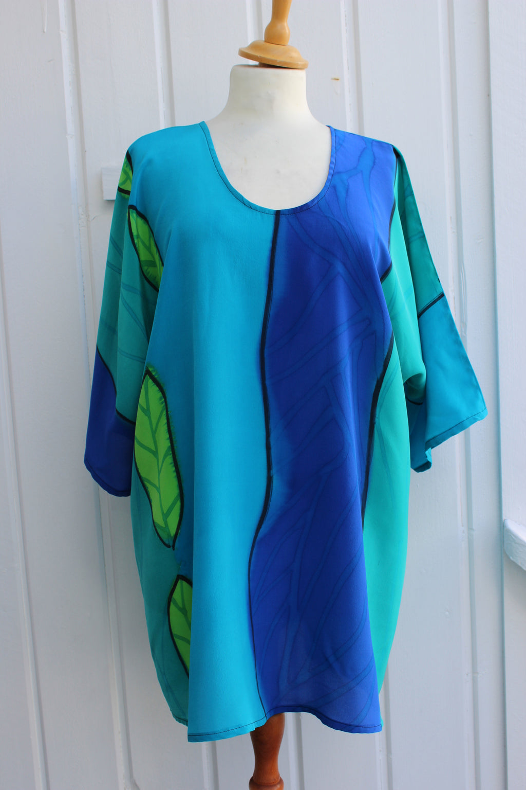 Hand painted silk top 2665