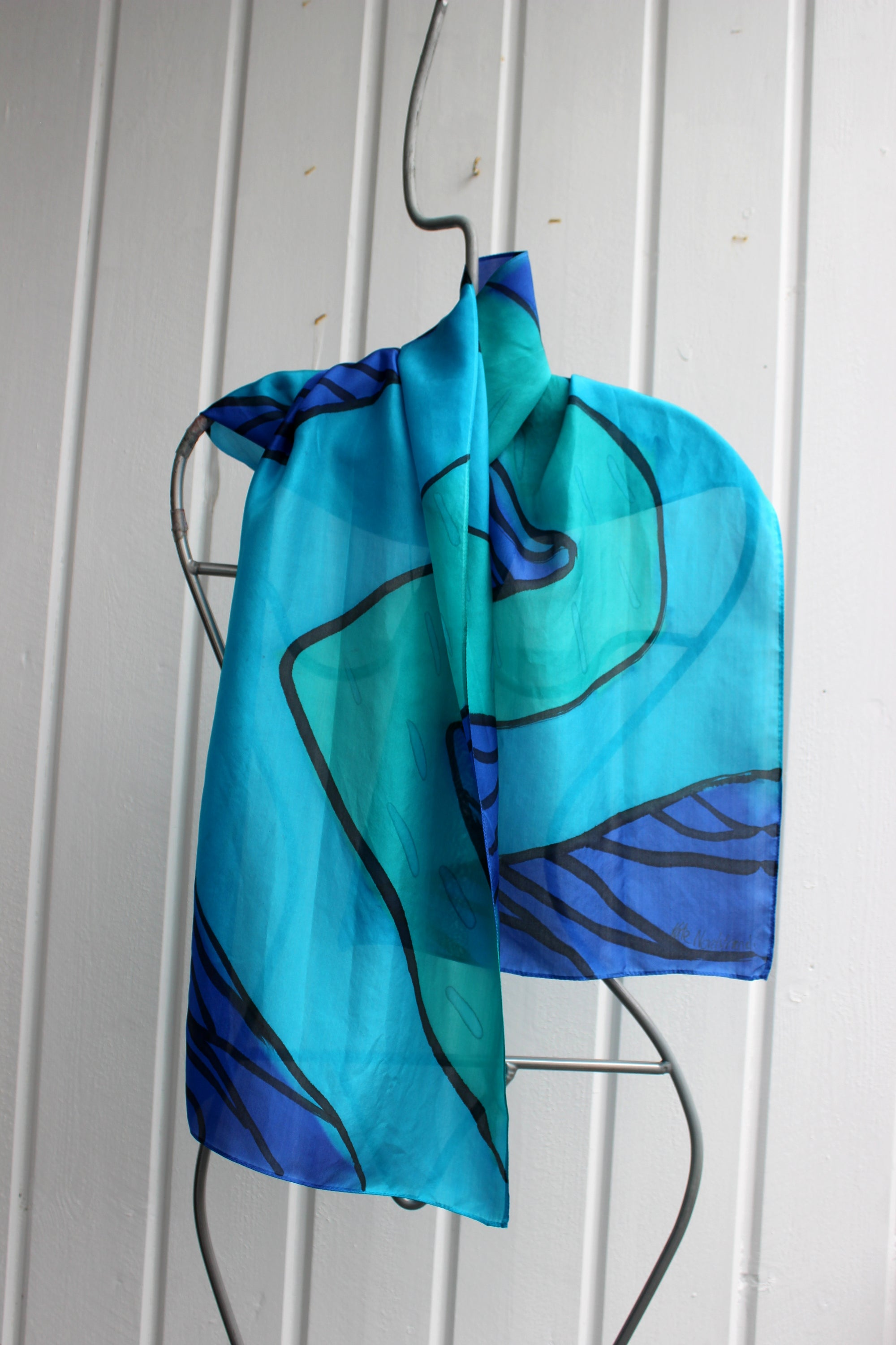 Hand painted silk scarf  2762