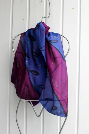 Hand painted silk scarf  2774