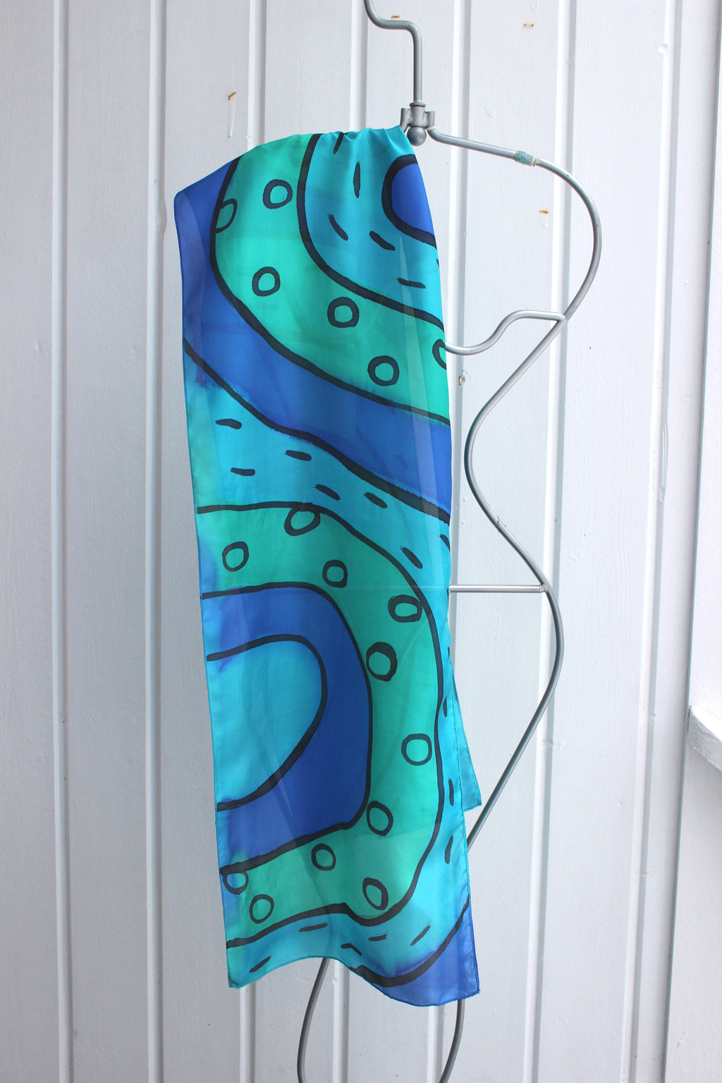 Hand painted silk scarf  2906