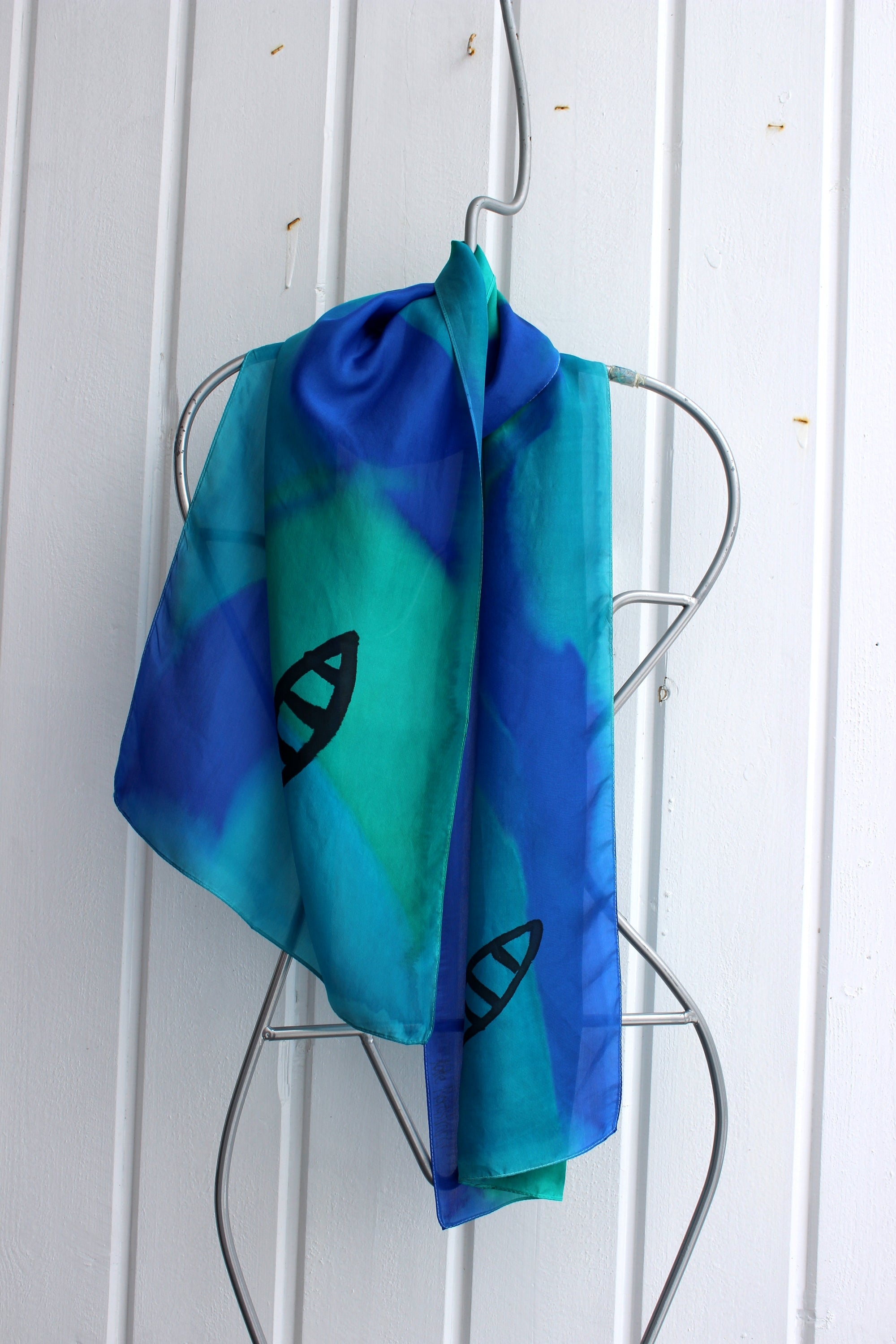 Hand painted silk scarf  2918