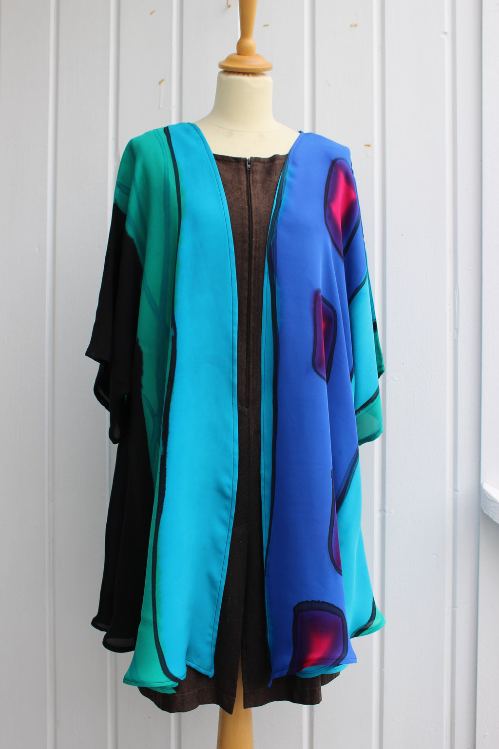 Hand painted silk jacket 2942