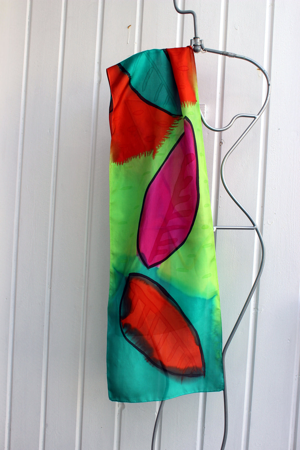 Hand painted silk scarf  2954