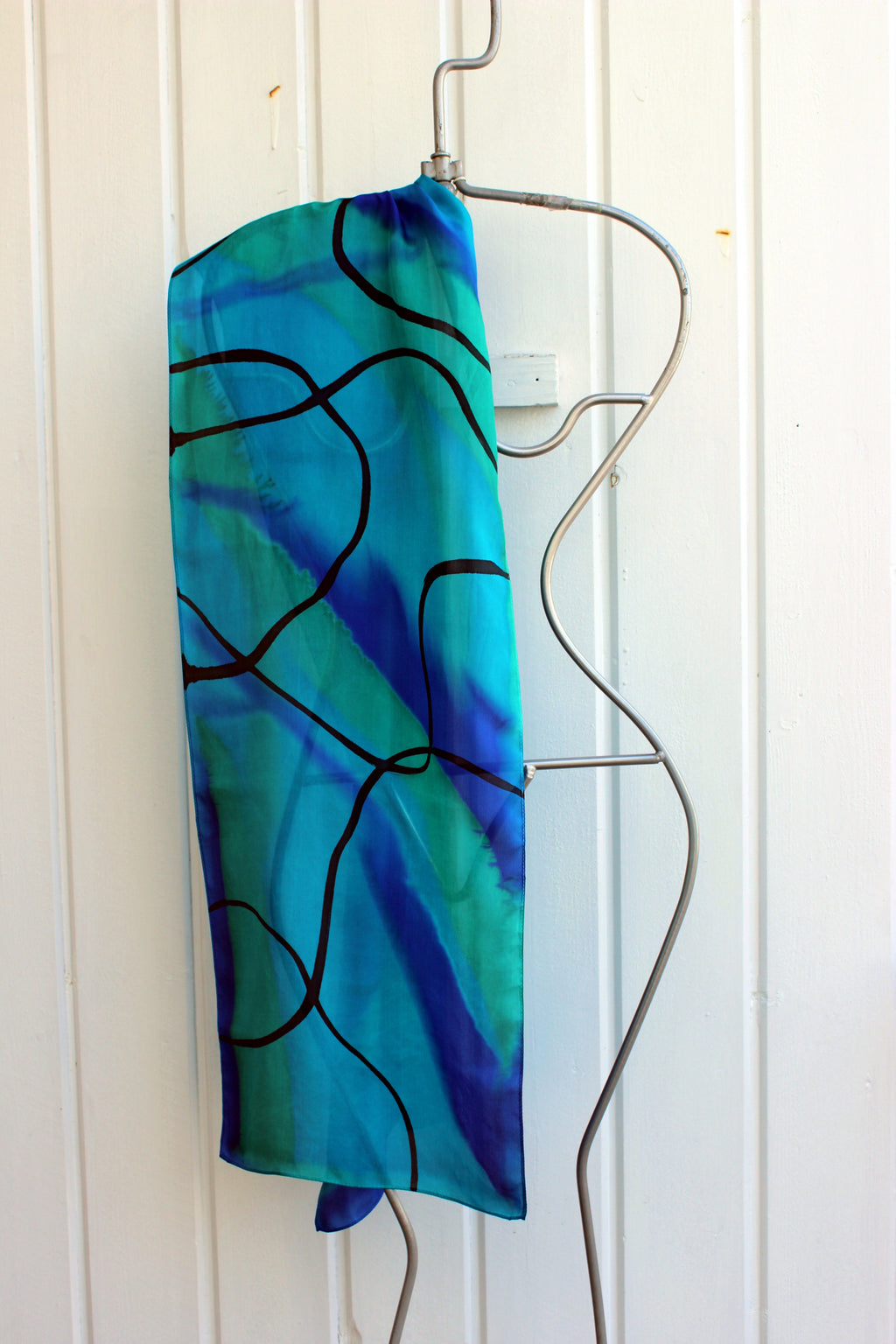 Hand painted silk scarf  2974