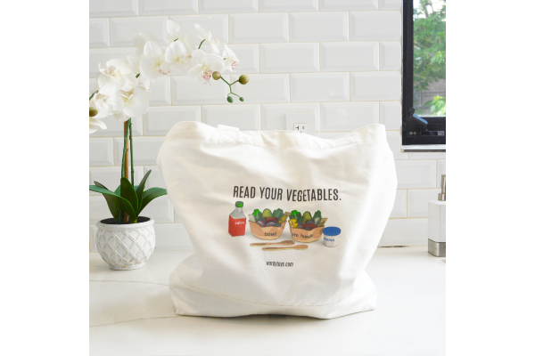 "Free ""Read Your Vegetables"" Tote Bag"