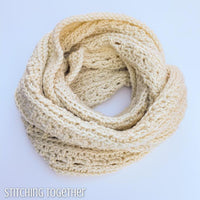 wrapped crochet cowl infinity scarf