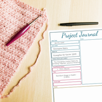 project journal for knit or crochet
