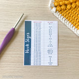 crochet hook conversion chart with hook