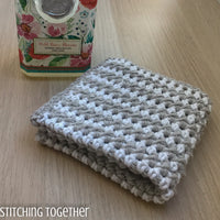 striped crochet washcloth