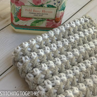 striped crochet dishcloth