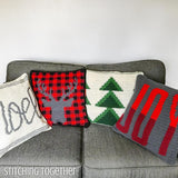 Christmas pillow crochet patterns