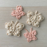4 crocheted butterflies