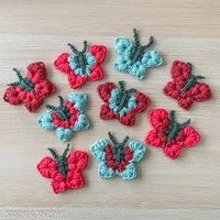 colorful crochet butterflies