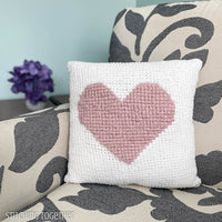 Here's My Heart Crochet Pillow Pattern