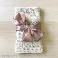 gift packaged crochet kitchen towels and dishcloths
