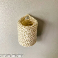 mini crochet basket hanging