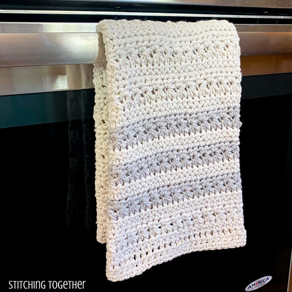 hanging kitchen towel crochet