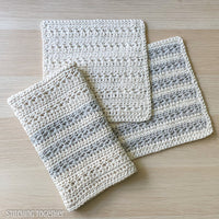 crochet kitchen dish towel and dishcloths