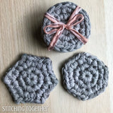 3 different types of crochet face scrubbies