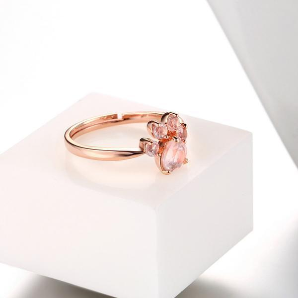 PAW ROSE QUARTZ RING
