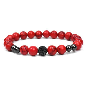 "KING & QUEEN OF RED "" NATURAL RED STONE 3PCS"""