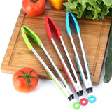 Kitchen Cooking Salad Serving BBQ Tongs Stainless Steel