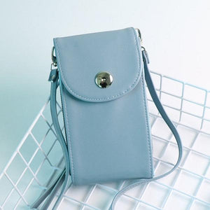 Women Leisure Crossbody Wallet Card Holder Universal 5.5 Inches Shoulder Phone Bag