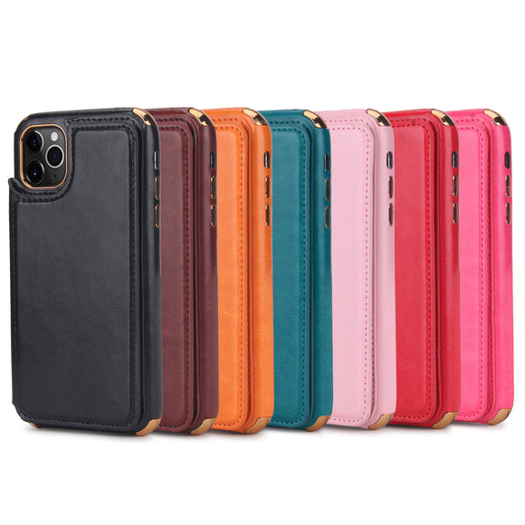 2019 POLA Genuine Leather Zipper Wallet Purse Phoe Bag For Iphone