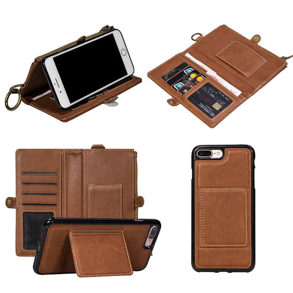 Leather case hanging waistband purse multi-functional mobile phone leather case business mobile phone case