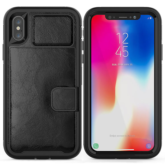 Multi-function Hard Frame Bumper Leather Case For Samsung Galaxy S10 e
