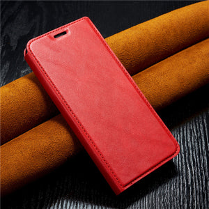 Samsung Honour Red Rice Retro-vintage Simple Ultra-thin Suction Hanging Rope Leather Sleeve