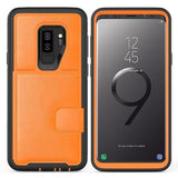 Multi-function Hard Frame Bumper Leather Case For Samsung Galaxy Note 9
