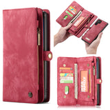 CaseMe For Samsung Detachable 2-in-1 Zipper Wallet Case