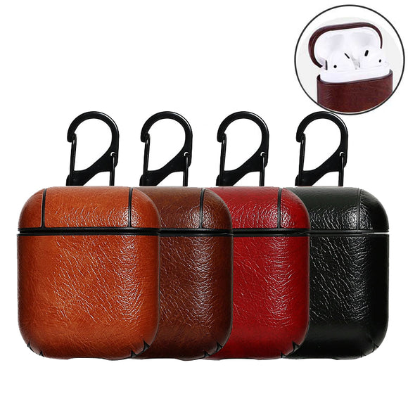 Leather Charging Case For Apple AirPods Protective AirPod Earphones