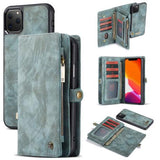 CaseMe For iPhone Detachable 2-in-1 Zipper Wallet Case