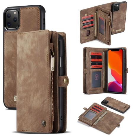 CaseMe For iPhone 11 Pro Detachable 2-in-1 Zipper Wallet Case