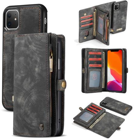 CaseMe For iPhone 11 Magnetic Detachable 2-in-1 Zipper Wallet Case