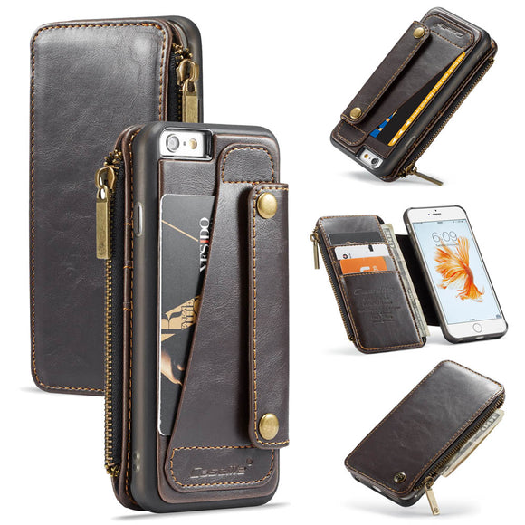 CaseMe For iPhone 6/6s Business Zipper Wallet Detachable 2 in 1 Case