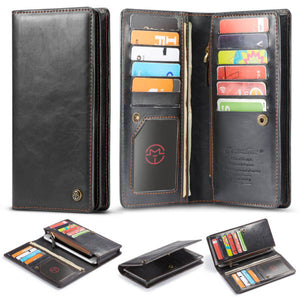 CaseMe For Universal Zipper Wallet Cash Pockets Multiple Card Slots Bag For (iPhone)4.0 – 6.5 inch Smart Phone