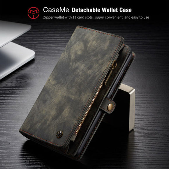 CaseMe For Huawei Mate 20 Zipper Wallet Magnetic Detachable 2 in 1 Case